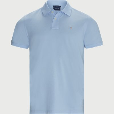 The Original Piqué SS Rugger Polo T-shirt Regular | The Original Piqué SS Rugger Polo T-shirt | Blå